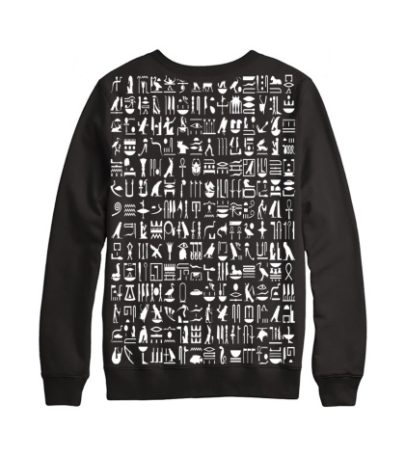 black hieroglyph toronto sweater