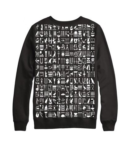 Black Hieroglyph Sweater Toronto Custom T Shirts