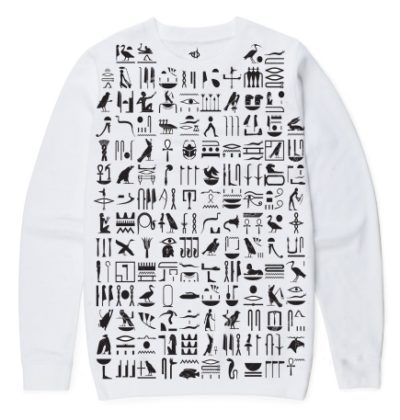 White Hieroglyphics Sweater